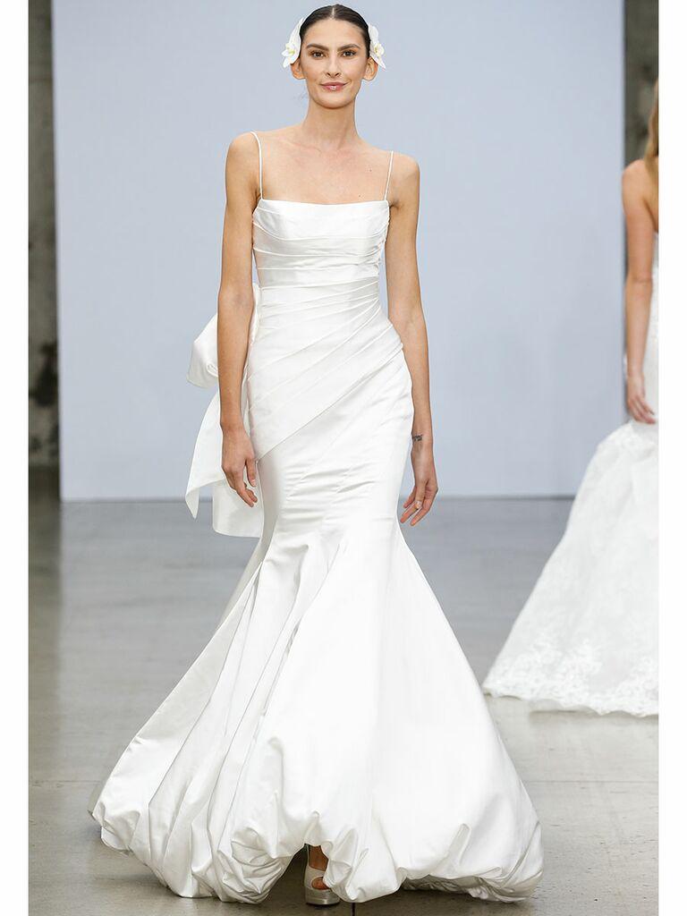 Pnina Tournai wedding dress mermaid gown bubble hem