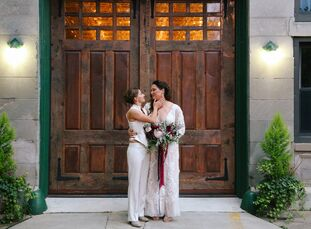 With a rustic-elegant theme in mind, Erica Corso (35 and a camera operator) and Megan O'Hare (34 and a chief of staff) looked to their Edgewater fireh