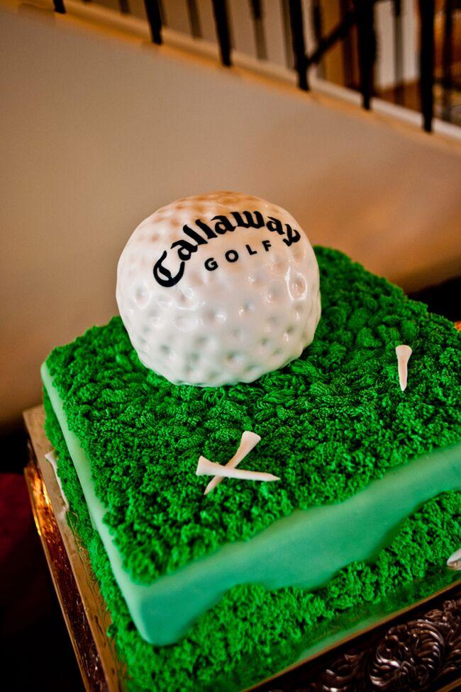 Golf-themed groom's cake