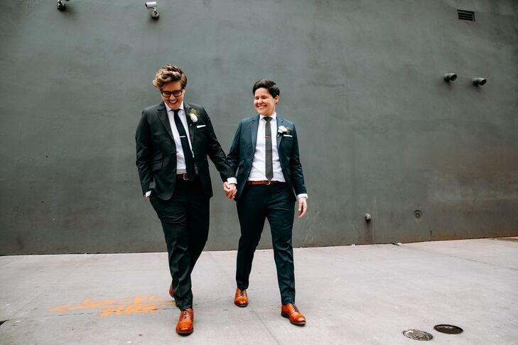 Modern Brides Wearing Custom Suits