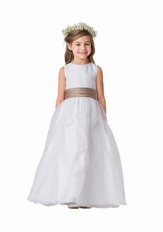 Bari Jay Flower Girls F5916 Champagne Flower Girl Dress