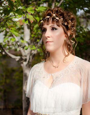 Bohemian-Meets-Ethereal Bridal Look