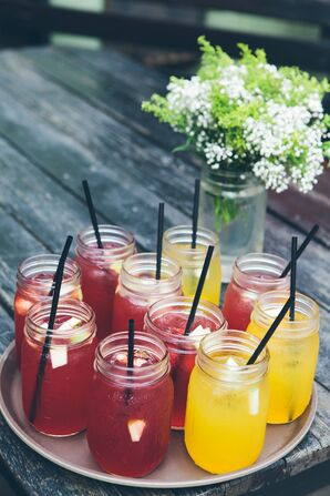 Colorful Signature Mason Jar Cocktails