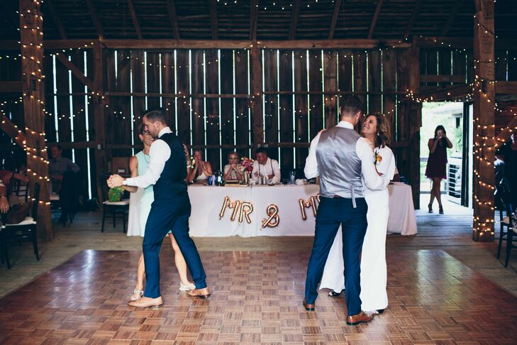 Mother-Son Dance at Rustic Reception