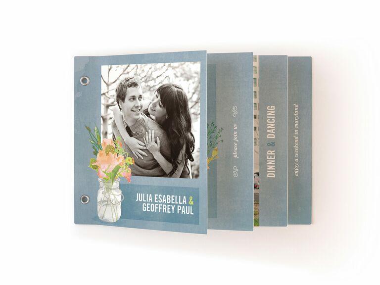 Minted spring wedding invitation booklet