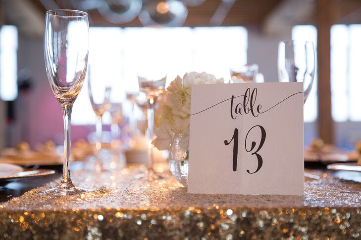 Glam Gold Sequin Table Linens