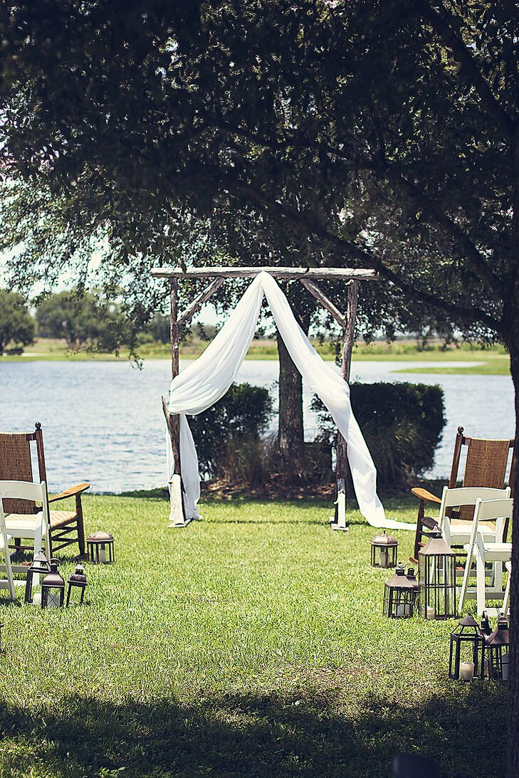 Simple Wooden Wedding Arch