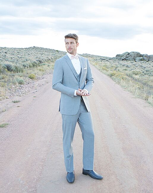 Allure Men Linen Gray Gray Tuxedo