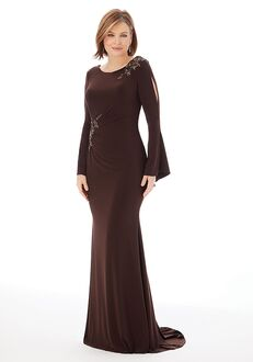 MGNY 72217 Brown Mother Of The Bride Dress