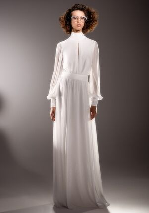 Viktor&Rolf Mariage LUREX JERSEY SCARF GOWN Sheath Wedding Dress