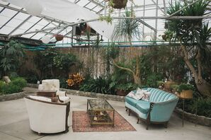 Antique Lounge Seating with Greenery