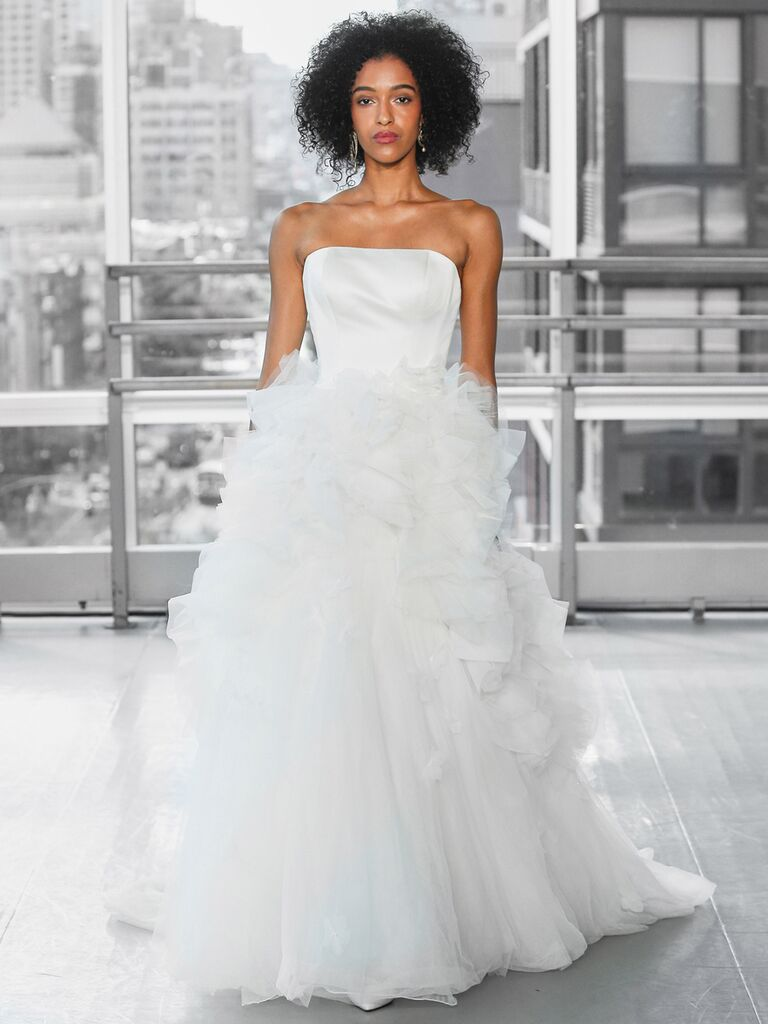Justin Alexander Signature Wedding Dresses strapless tulle ball gown