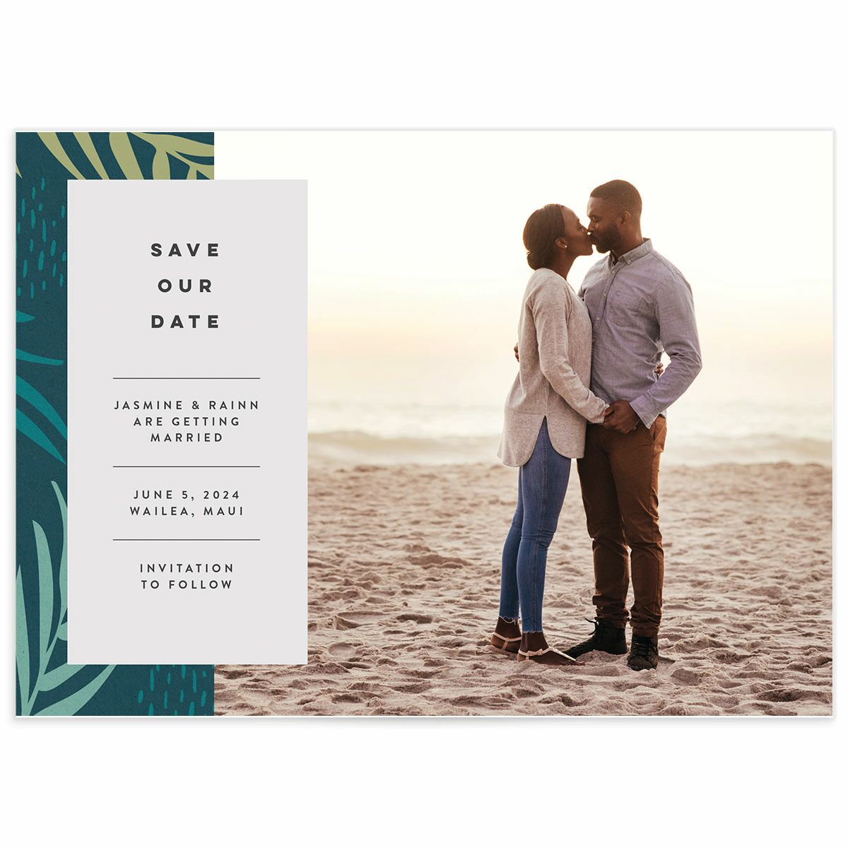 A Save the Date from the Modern Palm Collection