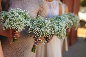Bridesmaid Baby's Breath Wedding Bouquets