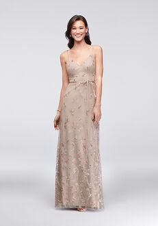 David's Bridal Collection David's Bridal Style F19797 V-Neck Bridesmaid Dress