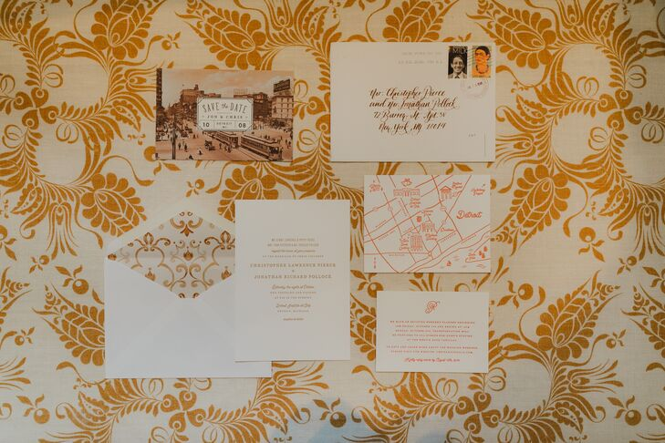 Vintage- and Autumnal-Inspired Invitations