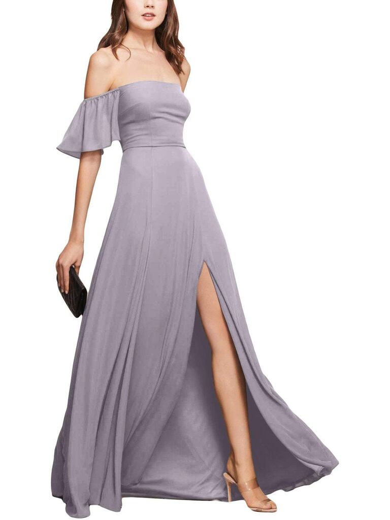 Dusty lilac bridesmaid dress
