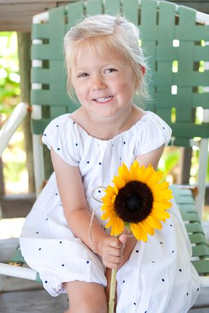 Sweet Blue Polka Dot Flower Girl Dress