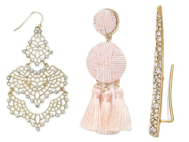 Beaded emerald long earrings party drop black green earrings everyday chandelier earrings  big bead stylish bridesmaid earrings