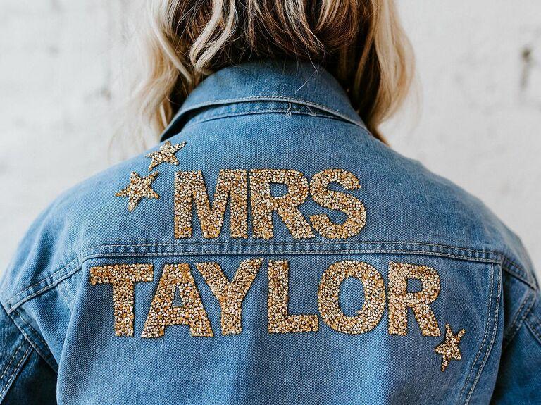 Mrs. jacket gift for fiance