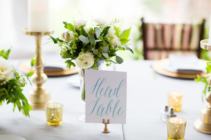 Watercolor Hand-Lettered Table Numbers