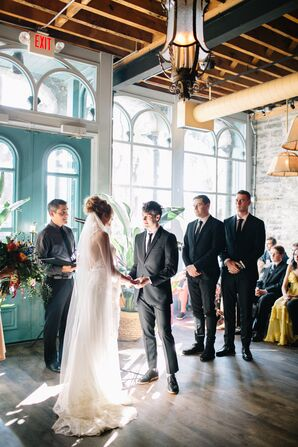 Intimate Wedding Ceremony at Aster Cafe