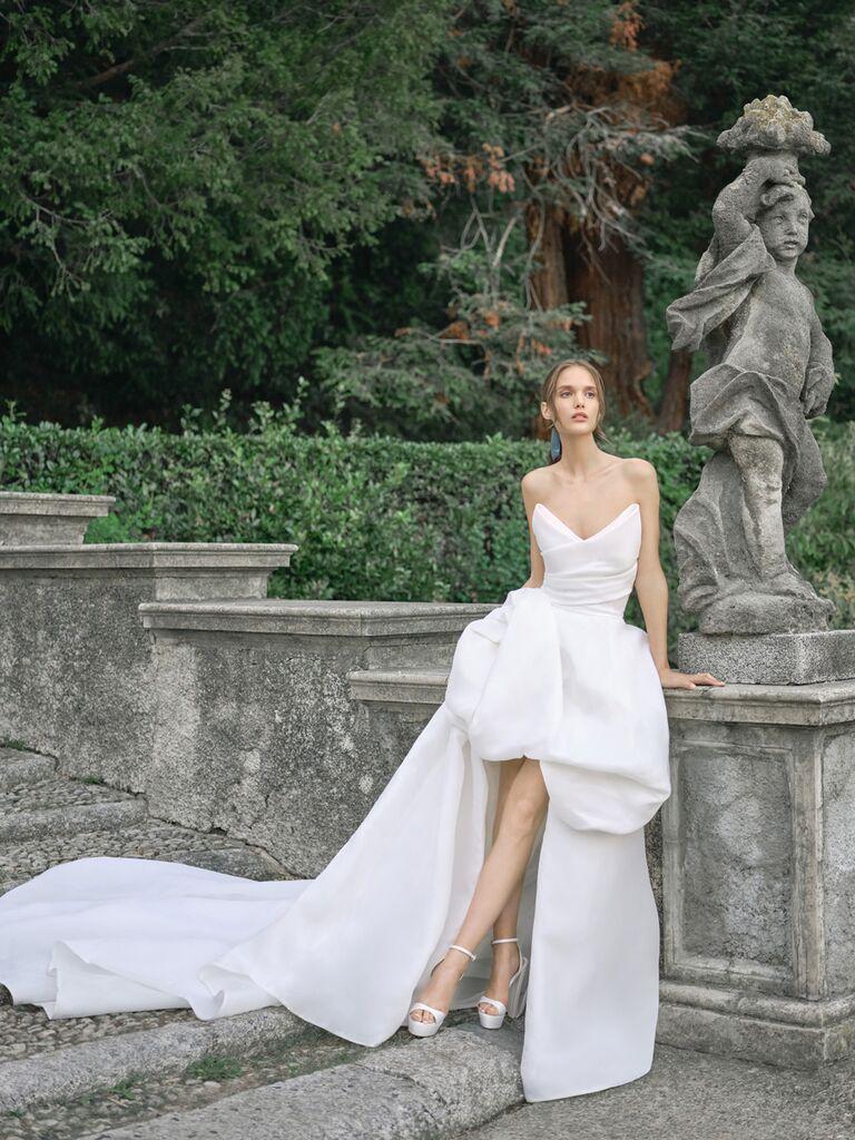 High-Low Wedding Dress Monique Lhuillier