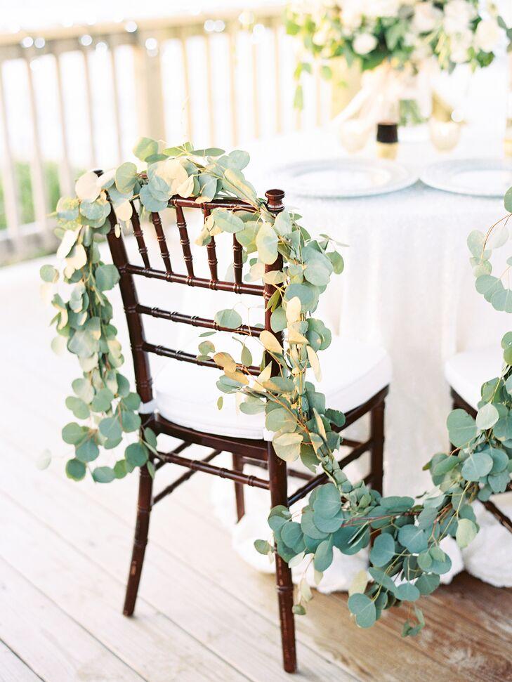 Eucalyptus Leaf Chiavari Chair Wedding Reception Decor