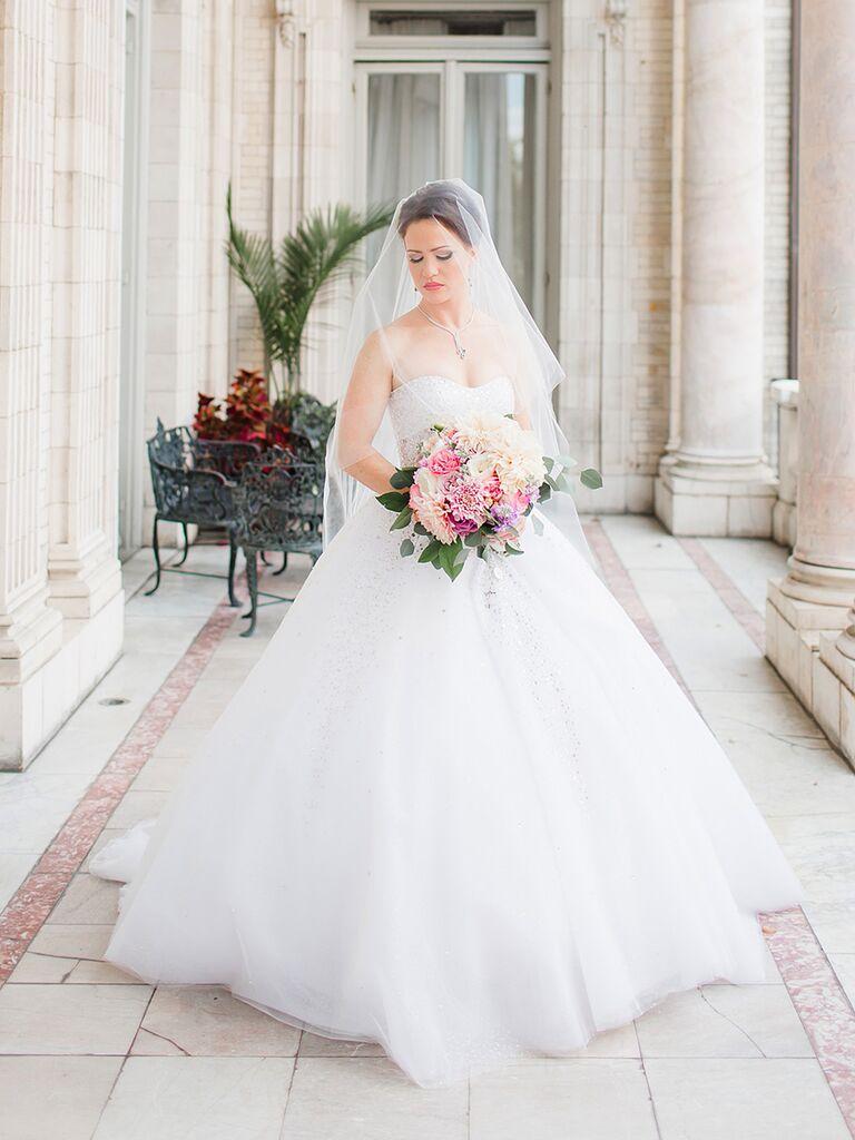 A-line Ines de Santo wedding ballgown