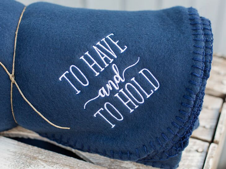 Custom blanket unique wedding favor