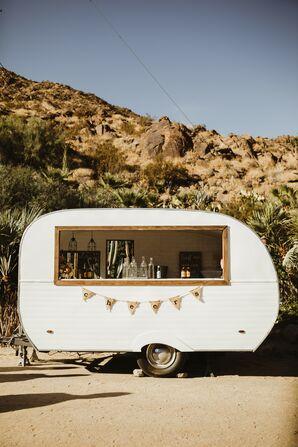 Vintage Trailer Bar for Bohemian California Wedding