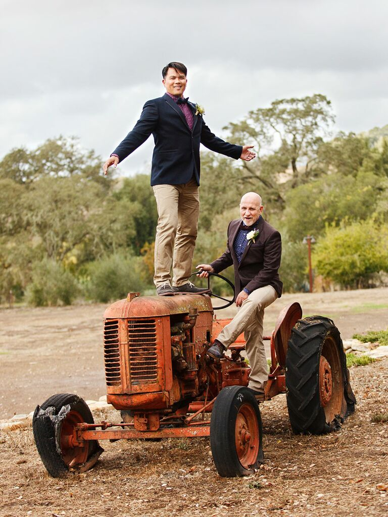 Couple on a Tractor