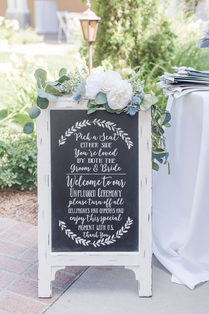 Romantic Hand-Lettered Chalkboard Sign