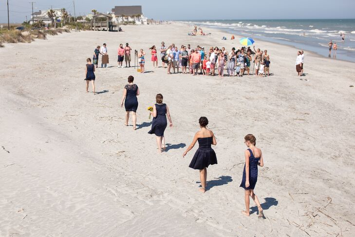 """I was sold on having our wedding at Folly Beach as soon as we arrived,"" says Ashley. ""The people, food and of course beaches were amazing!"""