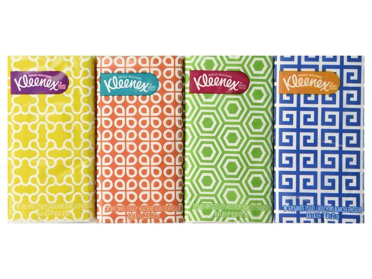 pocket pack of tissues