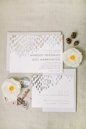 Modern Metallic Foil Wedding Invitations