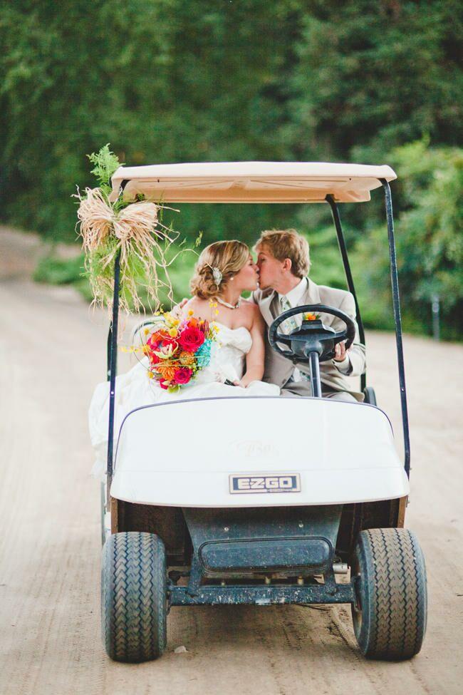 takes   wedding getaway car
