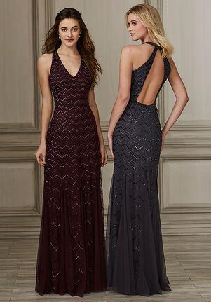Adrianna Papell Platinum 40144 V-Neck Bridesmaid Dress