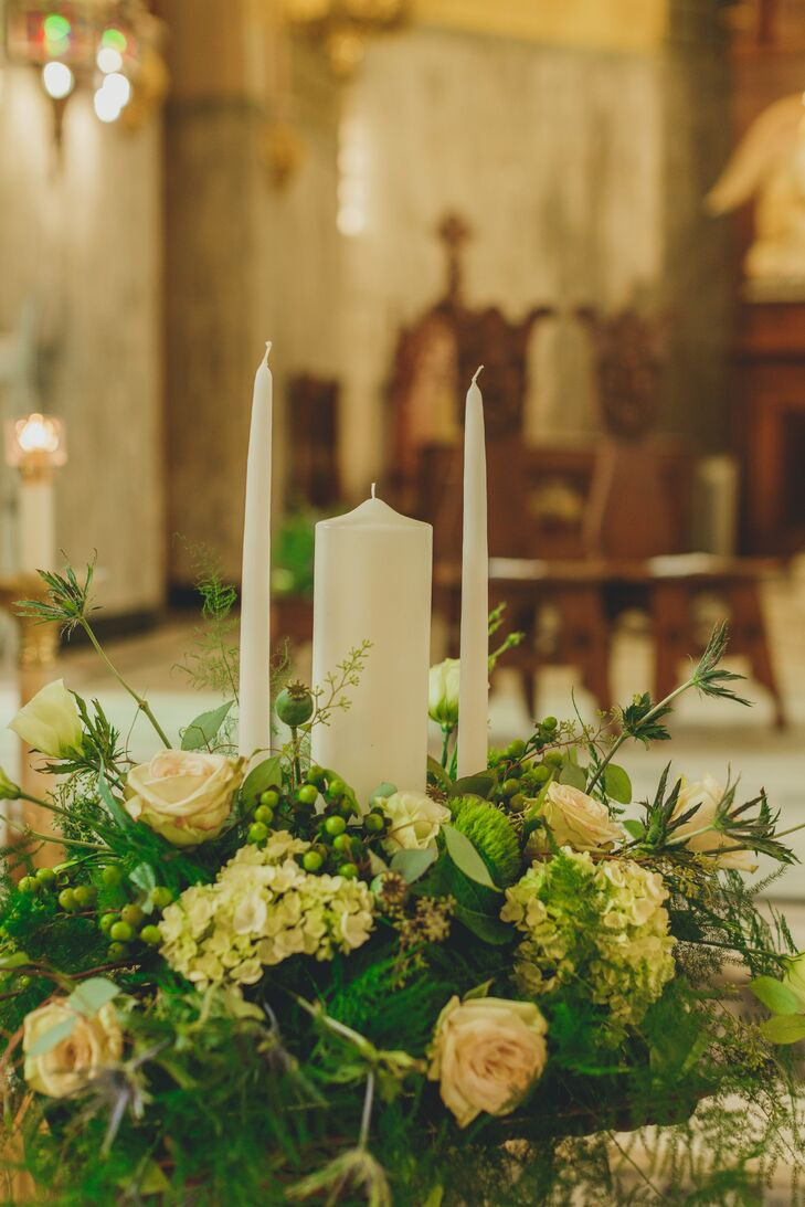 """The Historic Church of St. Patrick is very Irish green, so our flowers fit in perfectly,"" Stephanie says."