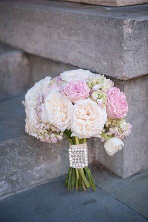 Romantic Bouquet with Family Heirloom Broach