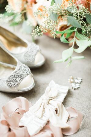 Beaded Peep-Toe Bridal Shoes