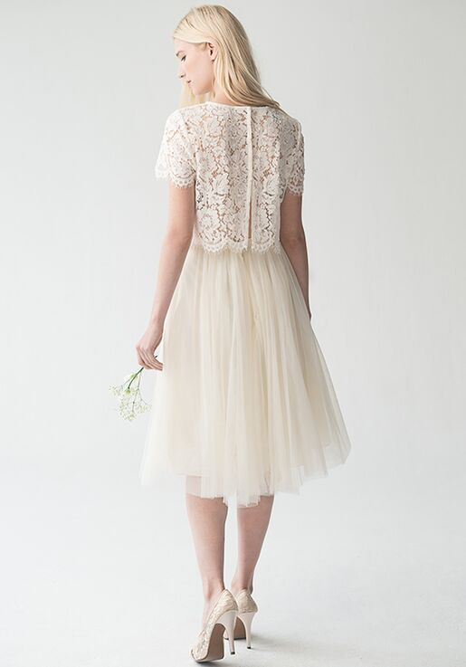 Jenny Yoo Collection (Maids) Kenzie Top {Ivory} #L1761 Bateau Bridesmaid Dress