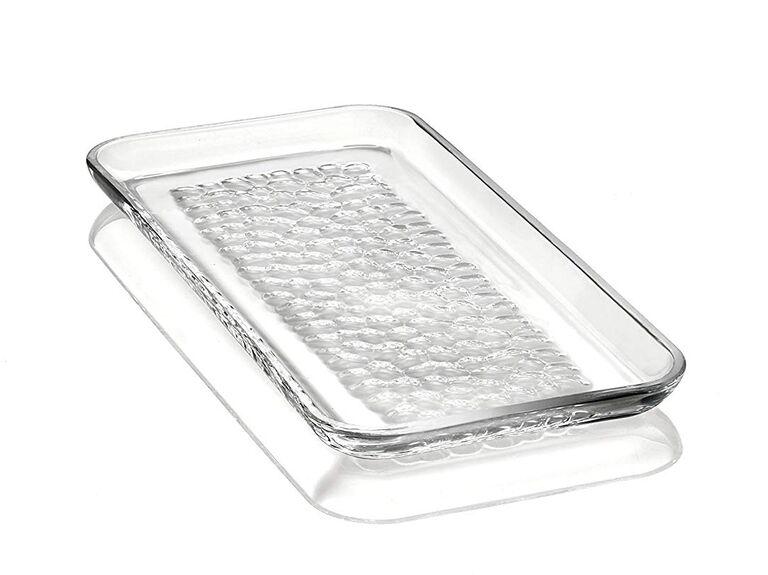 Crystal platter 15-year anniversary gift