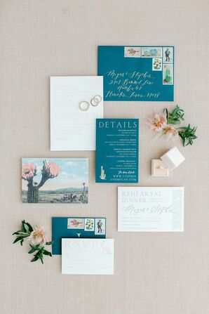 Desert-Inspired Invitations for Marathon, Texas Wedding