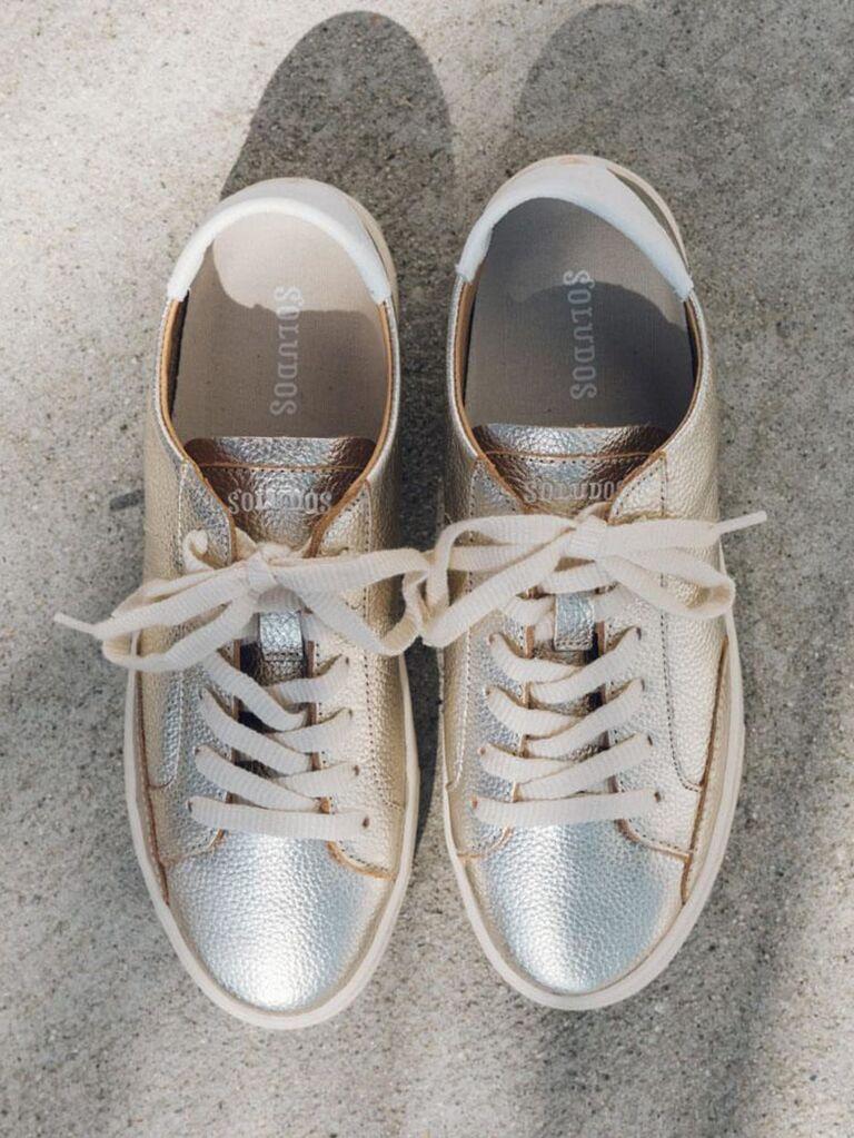 Platinum wedding shoes