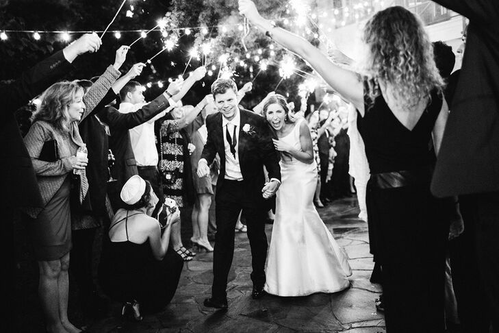 Late-Night Sparkler Exit
