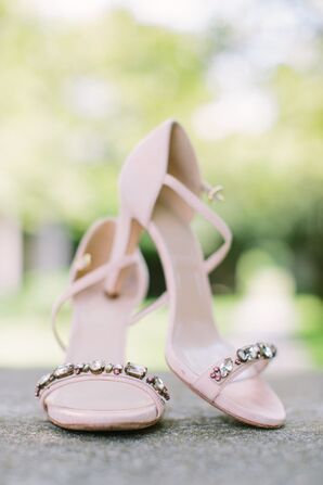Pink-Embellished J.Crew Bridal Sandals