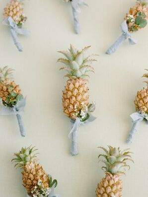 Mini Pineapple Boutonnieres