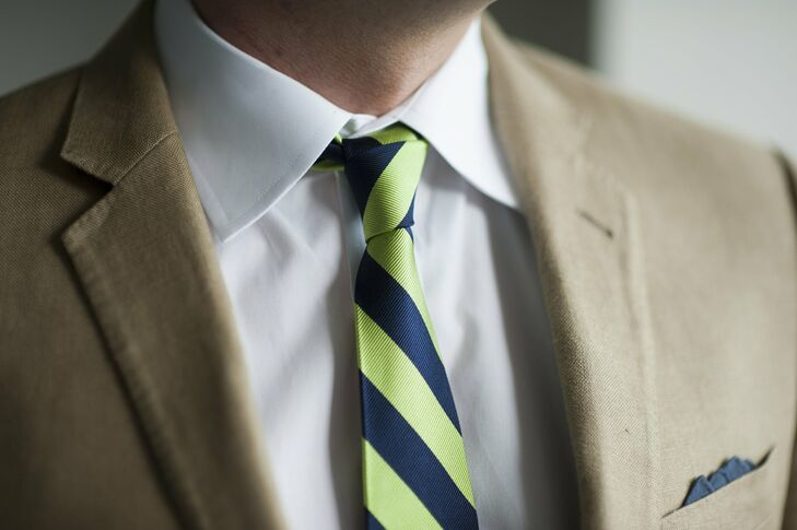 Green and Blue Striped Tie
