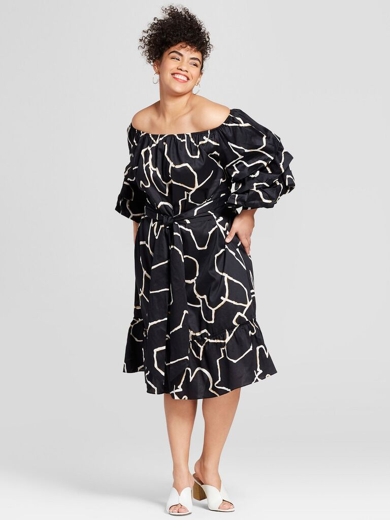 Who What Wear for Target one-shoulder dress